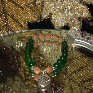 Jewelry - Healing Jade & Mala Meditation Bead Bracelet
